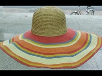Raffia Top Hats - Rainbow Sombrero Brims