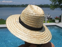 Simple & Stylish Trilby Straw Hat with black band