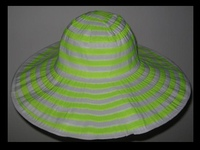 Colorful Striped Beach Hats - all Polyester - Washable