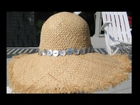 Mother of Pearl - Soft Raffia Hat with Strong Sun Block