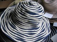 Swirling Blue and White Hat