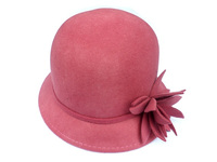 Cut Wool Felt Flower Cloche - 2 Color Choices