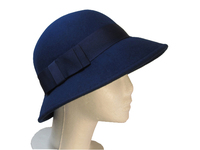 Dark Blue Wool Woman's Hat