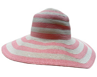 Pink and White Toyo Hat