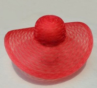 "Hat Supply Scallop Crinoline Horse Hair Kentucky Derby Style Hat 6.25"" Brim"