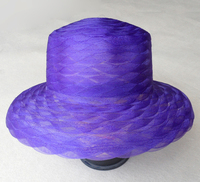 "Hat Supply Scallop Horse Hair Kentucky Derby Style Hat 2.25"" Brim"